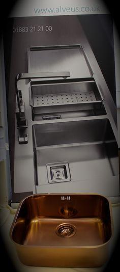 Copper Sink (Alveus Stainless steel kitchen sink in  Copper)