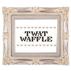 Snarky Stitch Twat Waffle PDF Cross Stitch Pattern Swear Word NSFW on Etsy, $3.50