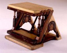 Library stool - Carlo Bugatti Designer