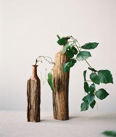 greenery centerpieces via oncewed.com
