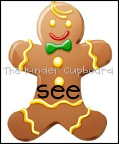 free gingerbread man sight words