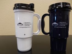 Want a way to take MGC with you wherever you do?  Stop by our Information Desk and purchase one of our travel mugs - in white or navy blue.  Only $8!