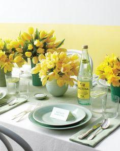 lemon yellow and sage green palette.