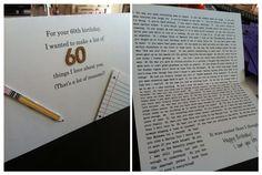 60th birthday card for my dad - it was a big hit! @Amanda Long
