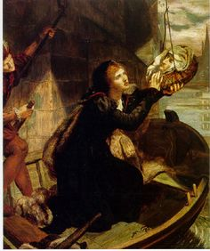 Lucy Madox Brown, Margaret Roper Rescuing the Head of her Father Sir Thomas More, 1873