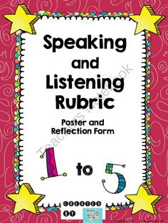 Set Classroom Expectations ~ Speaking and Listening Rubric! Enter for your chance to win 1 of 3.  Speaking and Listening: Poster and Rubric (6 pages) from WingedOne on TeachersNotebook.com (Ends on on 8-25-2014)  Great to set classroom expectations at the beginning of the year - Speaking and Listening Rubric