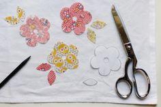 how to applique a tea towel (diy craft project) #applique #sew #handmadegift