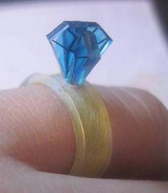 shrinky-dink diamond ring