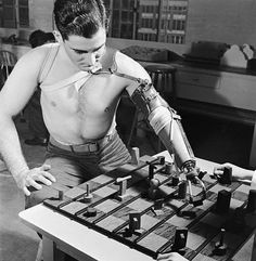 Early Arm Prosthetic... playing chess