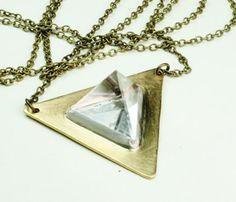 Tetrahedron Quartz Necklace Uncovet