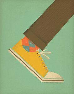 Chucks! #color #simple #retro