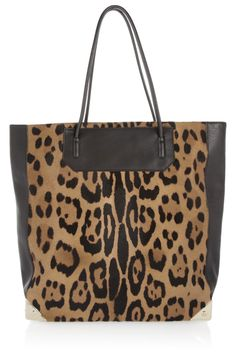 Prisma calf hair and leather tote by Alexander Wang