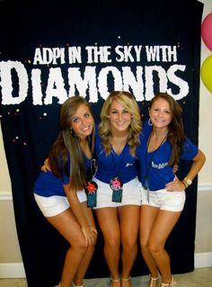 "Beatles themed bid day: ""ADPi in the sky with Diamonds!"" Oh how I wish we had done this!!"