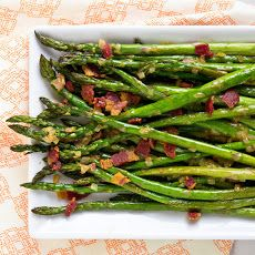 Roasted Asparagus with Bacon Vinaigrette