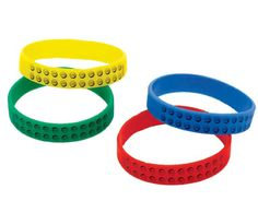 Lego wrist bands - great as prizes or in loot bags