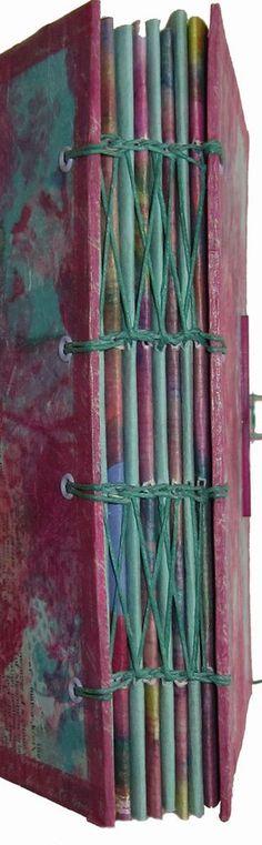 Coptic binding variation on handmade book  by Corinne Stubson #bindings