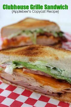Applebees Clubhouse Grille Sandwich Recipe-Baking Beauty #clubsandwich #bacon #applebees