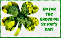 Green fruits & vegetable ideas for #StPats