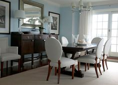 Formal yet comfortable dining room