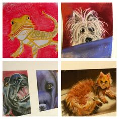 Paint/Draw/Sketch Your Pet Challenge! A few of the beloved pets Nana painted with chalk pastels!  We challenge you to draw your pet too!