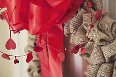 Burlap 'Bubbble' Wreath tutorial