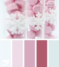 Holiday tones color palettes, web design, holiday tint, color schemes, colorpalett, color combinations, wedding colors, colour palettes, design seeds pink