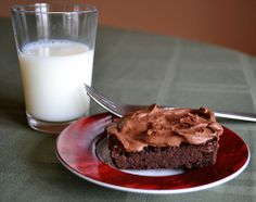 Black Bean Brownies with Coconut Milk Frosting