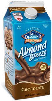 Refrigerated Almond Breeze Chocolate BEST CHOCOLATE MILK EVER