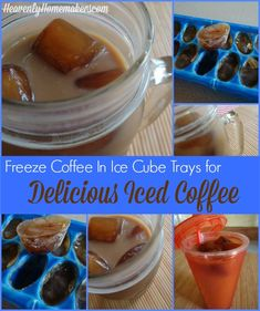 Freeze Coffee in Ice Cube Trays