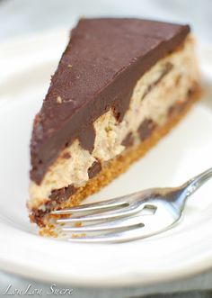 Chocolate Toffee Cheesecake with Chocolate Ganache