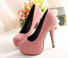 Pink high heels... the perfect color pink,love love love #wedding heels,high heels,shoes,fashion shoes,heels 2013,wedding shoes Classic Kitten Heels #fashion #shoes #heels #women