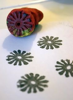 Filth Wizardry: plasticine stamp printing (play dough!)