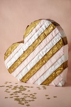 Fringed Heart Pinata - great idea for bridal showers