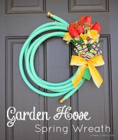 Garden Hose Spring Wreath by Create Craft Love