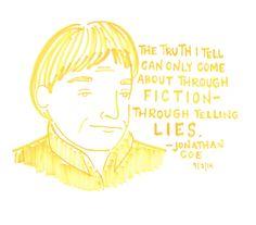 Jonathan Coe at Book Court, 9/7/14  Comic by Kate Gavino: http://lastnightsreading.tumblr.com/post/96967733488/jonathan-coe-at-book-court-9-7-14