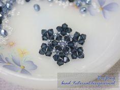 free bead_tutorial: Snowflake #2 can be used for bracelet, earrings etc