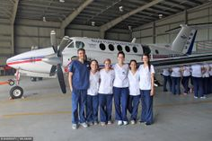 Nursing students abroad in Australia this winter learn about Royal Flying Doctors a transportation service for patients.