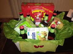 Apple themed gift basket! Apples to Apples with some apples and caramel would be so cute