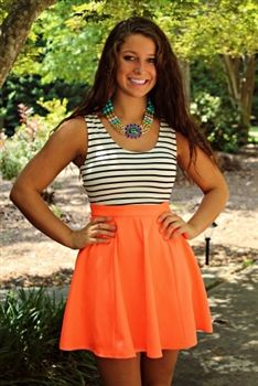 Lucky You Dress - Neon Coral $32.99 #SouthernFriedChics