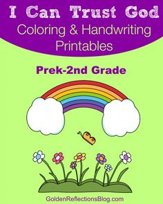 """FREE Coloring and Handwriting """"I Can Trust God"""" Printable Packet - for Prek-2nd Grade! 