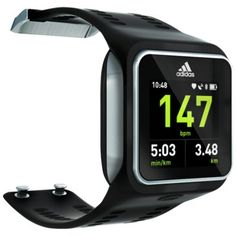 miCoach Smart Run watch. Continuous strap-free heart rate, GPS-based speed, Bluetooth, wireless music player. (Requires miCoach user acct). From Adidas.