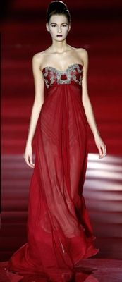 Hannibal Laguna red silver gown