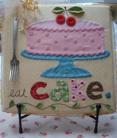 Applique ~ eat cake...
