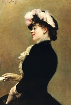 Raimundo de Madrazo y Garreta (Spanish 1841–1920) [Salon, Portraiture] An Elegant Beauty.