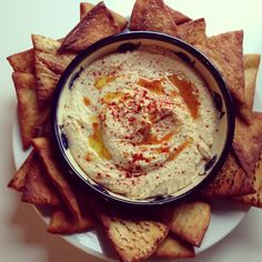 Heavenly Hummus with Homemade Pita Chips - Amateur Gourmet