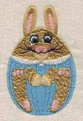 Free Embroidery Design: Egg Bunny - I Sew Free