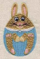 Free Embroidery Design: Egg Bunny - I Sew Free