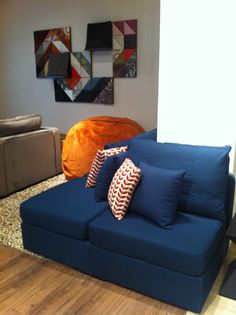 As seen in the @Sarah Chintomby Ann Coleman Sherman Oaks store --  #Lovesac Sactionals resolve all types of room layout challenges.