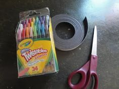 Magnetic crayons (for traveling in the car)