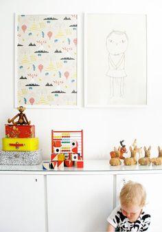 Children's room - Cat poster by Fine Little Day - Varpunen via AAM blog